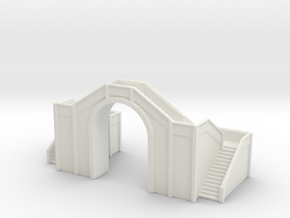 Railway Foot Bridge 1/285 in White Natural Versatile Plastic