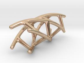 Quadruple Helix Pendant in 14k Rose Gold Plated Brass