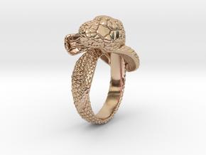 Snake Ring in 14k Rose Gold Plated Brass: 6 / 51.5