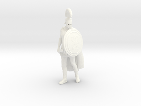 Greek-Soldier-Pose 2 in White Processed Versatile Plastic