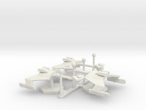 7000 Scale Klingon D7 Battlecruisers (3) WEM in White Natural Versatile Plastic