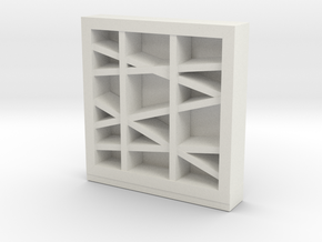 Modern Miniature 1:48 Rack in White Natural Versatile Plastic: 1:48 - O