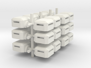 Square Bunker (x24) in White Natural Versatile Plastic