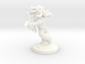 Medusa 28mm in White Processed Versatile Plastic