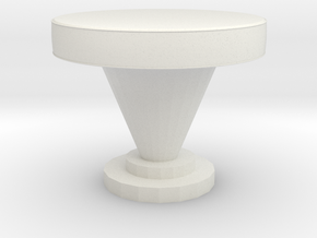 Modern Miniature 1:12 Coffee Table in White Natural Versatile Plastic: 1:12