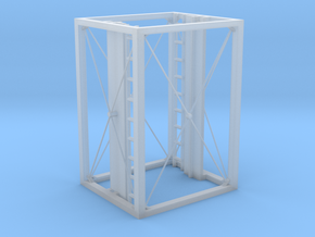 Aufzug Zwischengeschoß offene Stahlkonstruktion in Smooth Fine Detail Plastic