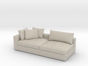Miniature 1:24 Sofa in Natural Sandstone: 1:24