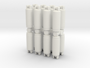 Gas Cylinder Tank (x16) 1/100 in White Natural Versatile Plastic