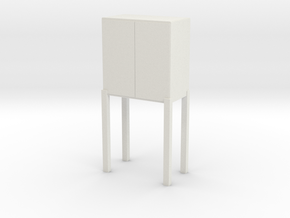 Modern Miniature 1:24 Console in White Natural Versatile Plastic: 1:24