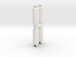 Gas Cylinder Tank (x4) 1/64 in White Natural Versatile Plastic