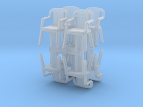 Plastic Chair (x8) 1/87 in Smooth Fine Detail Plastic