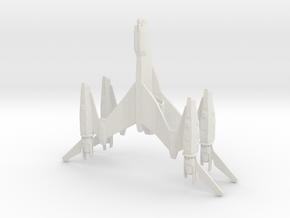 Thunderbolt - 8.5cm in White Natural Versatile Plastic