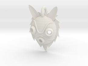 "Princess Mononoke ""San's Mask"" in White Natural Versatile Plastic"