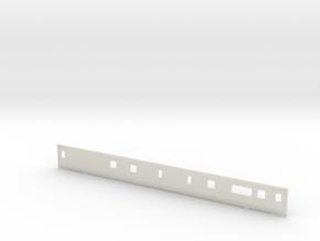 3mm Scale Mk3 TRBF Buffet Coach Side B in White Natural Versatile Plastic