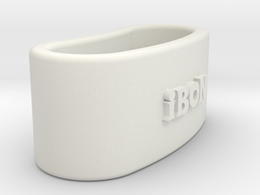 IBON 3D Napkin Ring with eguzkilore in White Natural Versatile Plastic