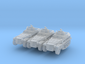 Sdkfz 250/4 A Anti Aircraft (x3) 1/285 in Smooth Fine Detail Plastic