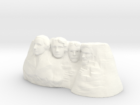 Mount Rushmore 3D print in White Strong & Flexible Polished