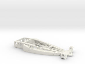 """34 Hot Rod"" - 1/24 slot car chassis in White Natural Versatile Plastic"