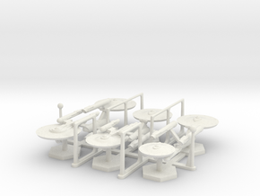 7000 Scale Federation Fleet Core Collection WEM in White Natural Versatile Plastic