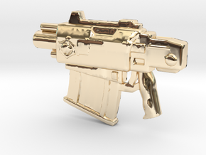 BoltPistol in 14k Gold Plated Brass