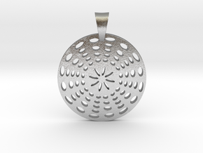 Circle Pendant in Natural Silver