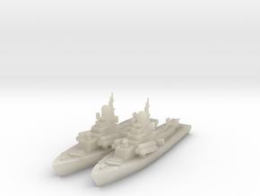 1/600 Nanuchka 1 Missile Corvette x2 in White Acrylic