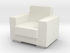 Vintage Armchair 1/64 in White Natural Versatile Plastic