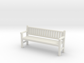 Park Bench - 4mm Scale in White Natural Versatile Plastic
