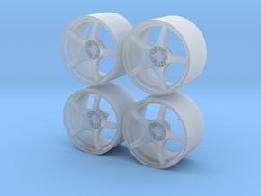 1/24 - 19'' Enkei RP03 - model car wheel (male) in Smoothest Fine Detail Plastic