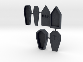 O Scale 3 Coffins in Black PA12