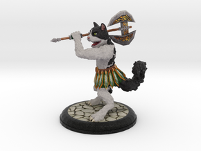 Warrior Cat Large Print in Natural Full Color Sandstone