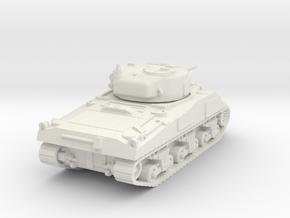 O Scale Sherman Tank in White Natural Versatile Plastic