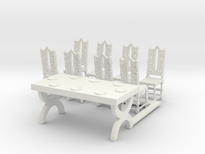 O Scale Table and Place Settings in White Natural Versatile Plastic