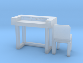 SPACE 2999 EAGLE MPC 1/72 DESK W CHAIR in Smooth Fine Detail Plastic