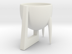 Cup 02 (small) in White Natural Versatile Plastic