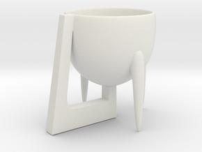 Cup 02 (medium) in White Natural Versatile Plastic