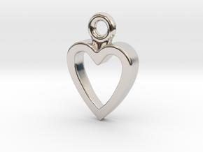 Heart Charm / Pendant / Trinket in Platinum