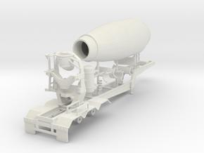 1/64th Cement Concrete mixer trailer in White Natural Versatile Plastic