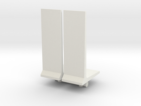 Retaining Concrete Wall (x2) 1/87 in White Natural Versatile Plastic