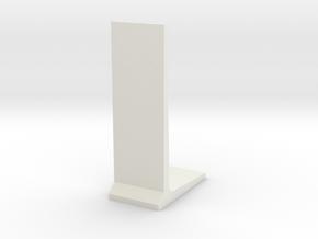 Retaining Concrete Wall 1/12 in White Natural Versatile Plastic