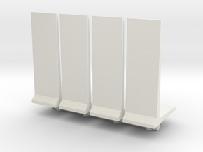 Retaining Concrete Wall (x4) 1/144 in White Natural Versatile Plastic