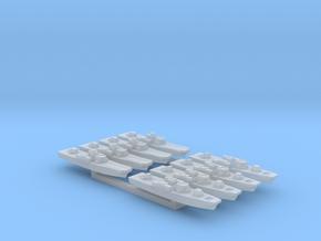 2x4pk Fairmile H class LCI-LCLs WW2 1:1800 in Smooth Fine Detail Plastic