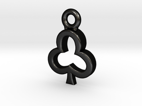 Club Charm / Pendant / Trinket in Matte Black Steel