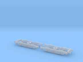 LNER/BR EM1 Bogies 1/101.5 in Smooth Fine Detail Plastic