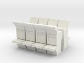 Air Traffic Control Console (x8) 1/160 in White Natural Versatile Plastic
