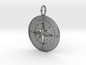 COMPASS in Natural Silver