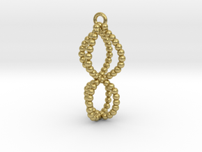 caged pendant  in Natural Brass