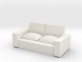 Sofa Bed (closed) 1/60 in White Natural Versatile Plastic