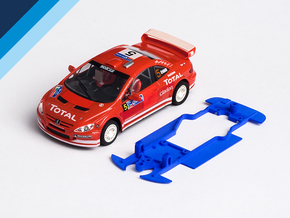1/32 Ninco Peugeot 307 Chassis for Slot.it pod in White Natural Versatile Plastic