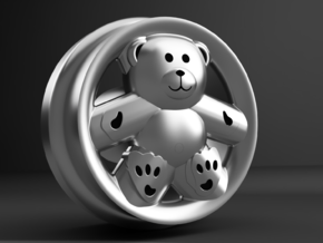 1/64 scale Ronal Teddy Bear 8mm Dia - 4 sets in Smoothest Fine Detail Plastic